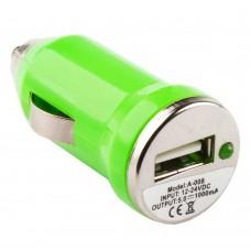 АЗУ LP с USB выходом 1А зеленый