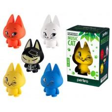 PERFEO PF-MC07HR MUSIC Cat черно-желтый кот. Миниколонки c MP3 плеером Perfeо Music Cat, 3.5мм 600мА