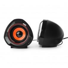 Акустическая система 2.0 Gembird SPK-105, черный, 5 Вт, регулятор громкости, USB-питание