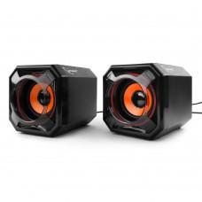 Акустическая система 2.0 Gembird SPK-405, пассивные излучатели, черный, 5 Вт, регулятор громкости, U