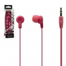 Внутриканальные наушники Smartbuy JAZZ, розовые, 3 пары силиконовых вставок (SBE-740)