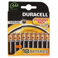 Батарейка Duracell AAA LR3 1.5V BL18