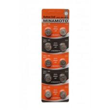 Батарейка MINAMOTO AG12 (LR43)