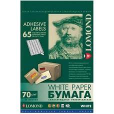 Lomond наклейка А4/65 делений/50л