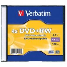 DVD+RW Verbatim 4,7Gb 4x Cake Box 1шт