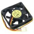 Вентилятор fan 50x50x10 3pin подшипник 12V 0.13A 5000 об/мин (D50SM-12AS)