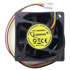 Вентилятор Gembird 60x60x25 3pin провод 25 см D6025SM-3
