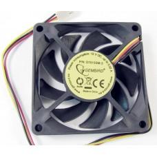 Вентилятор для корпуса Gembird 70x70x15, D7015SM-3 3 pin, провод 25 см