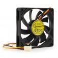 Вентилятор для корпуса Gembird 80x80x15, D8015SM-3, втулка, 3 pin, провод 30 см
