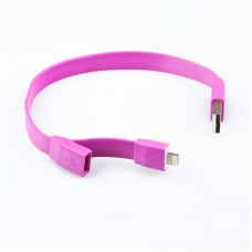 "USB Дата-кабель ""LP"" для Apple iPhone/iPad/iPad mini 8 pin ""плоский браслет"" (сиреневый/европакет)"