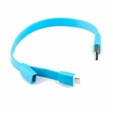 "USB Дата-кабель ""LP"" для Apple iPhone/iPad/iPad mini 8 pin ""плоский браслет"" (голубой/европакет)"