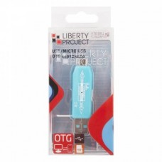 "Картридер ""LP"" слоты Micro SD/USB (голубой/коробка)"