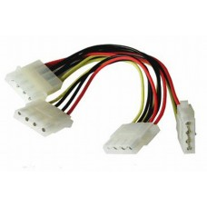 Кабель питания 4pin Molex to 3*4pin Molex , (E4pinM-3x4pinF)