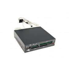 """Картридер FDI2-ALLIN1-В Gembird внутренний 3,5""""  черный +USB OEM"""