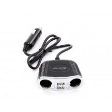 Автомобильный разветвитель прикуривателя 2 USB 2000mA, черный Energenie EG-UC-CAR1