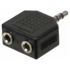 Адаптер аудио Ningbo 2xJack 3.5 (f)/Jack 3.5 (m) черный (JAAA095-B)