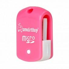 Картридер USB Micro SD pink