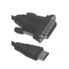 Кабель HDMI вилка - DVI-D вилка, длина 3 м, SPARKS