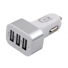 Адаптер питания Cablexpert MP3A-UC-CAR17, 12V->5V 3-USB, 2.1/2/1A