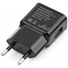 Адаптер питания Cablexpert MP3A-PC-10 100/220V - 5V USB 1 порт, 1A, черный
