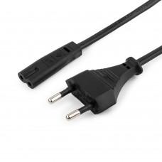 Кабель питания Cablexpert PC-184/2-0.5М, 0.5м, CEE 7/16 - C7, 2-pin, 2х0,5, черный PC-184/2-0.5М
