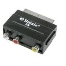 Адаптер (переходник) SCART <-- 3 RCA, видео+стерео-аудио, SPARKS