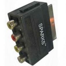 Адаптер (переходник) SCART <--> 4RCA, моно.