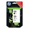 Картридж HP 121 (черный+цветной) CN637HE (HP Deskjet D2563, F4283 ) (o)