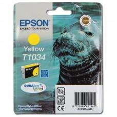 Картридж Epson T1034 жёлтый (T30/T1100/T40W/TX600FW) (o)