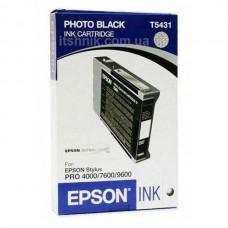 Картридж Epson T5431 (110ml)  black
