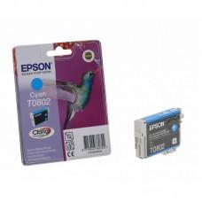 Картридж Epson T0802 cyan без коробки (Epson P50/PX660/700W/800FW/R265/RX 560) (o)