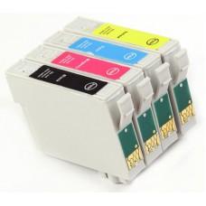 Картридж Epson T0551В R240/R245/RX420/RX425/RX520 - Bk/С/М/Y+бумага БС ProfiLine