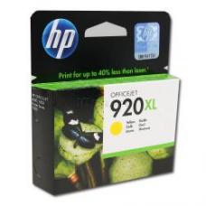 Картридж HP 920XL HP OfficeJet 6500 CD974A жёлтый (o)