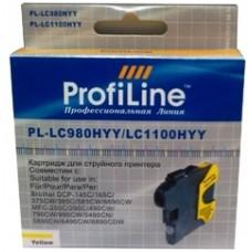 Картридж Brother LC980/LC1100 жёлтый DCP -145C/165C/375CW MFC-250C/290C ProfiLine