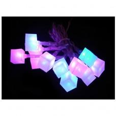 Гирлянда Ледяные кубики, USB, 7 цв. подсветки NY50
