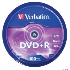 DVD+R Verbatim 4,7Gb 16x Cake Box