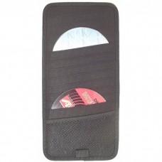 Автомобильный держатель-органайзер на 12CD/DVD, чёрный