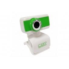 Вeб-Камера CBR CW-832M Green, универс. крепление, 4 линзы, эффекты, микрофон