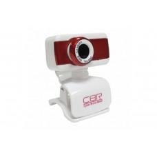 Вeб-Камера CBR CW-832M Red, универс. крепление, 4 линзы, эффекты, микрофон, CW 832M Red