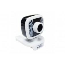 Вeб-Камера CBR CW-835M Black, универс. крепление, 4 линзы, эффекты, микрофон, CW 835M Black
